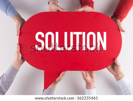 Group of People Message Talking Communication SOLUTION Concept - stock photo