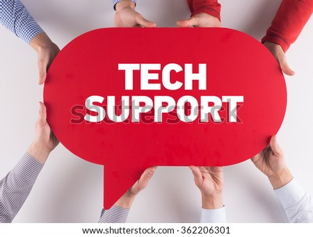 Group of People Message Talking Communication TECH SUPPORT Concept - stock photo