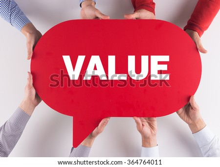 Group of People Message Talking Communication VALUE Concept - stock photo