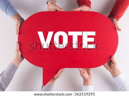 Group of People Message Talking Communication VOTE Concept - stock photo