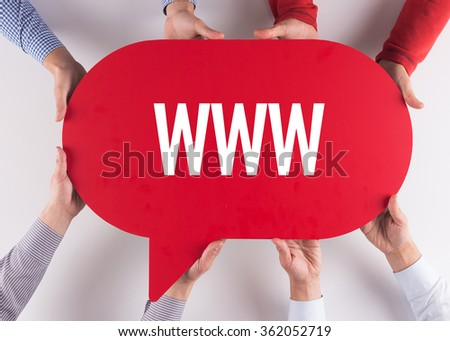 Group of People Message Talking Communication WWW Concept - stock photo