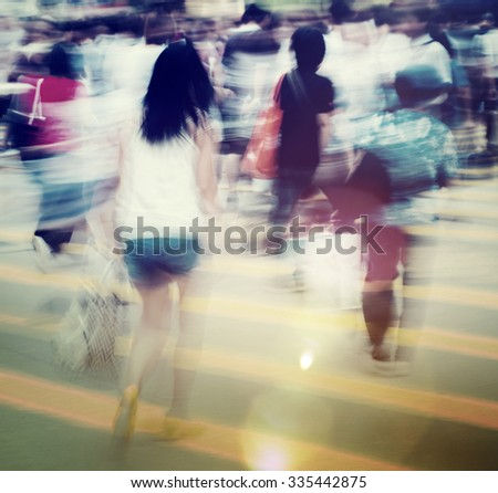 Group of People Pedestrian Rush Hour Concept