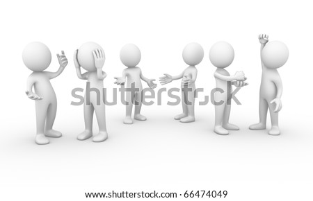Group of people talking - stock photo
