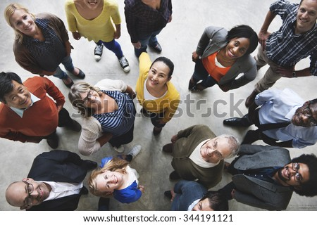 Group of People Team Diversity Smiling Concept