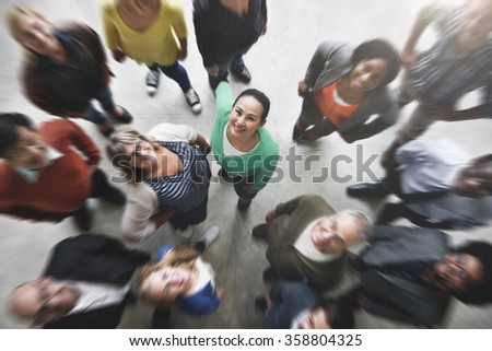 Group of People Team Diversity Smiling Concept - stock photo