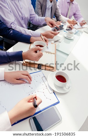 Group of people working together in the office