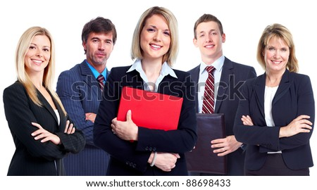 Group of professional business people. Isolated over white background. - stock photo