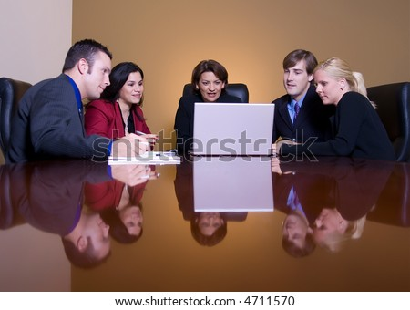 Group of professional in a meeting