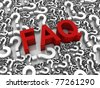 Group of question mark symbols. Part of a series. - stock