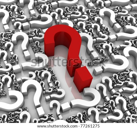 Group of question mark symbols. Part of a series. - stock photo