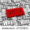Group of research related 3D words. Part of a series. - stock photo