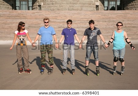group of rollers - stock photo