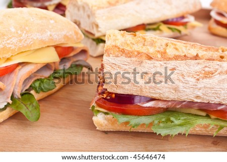 group of sandwiches