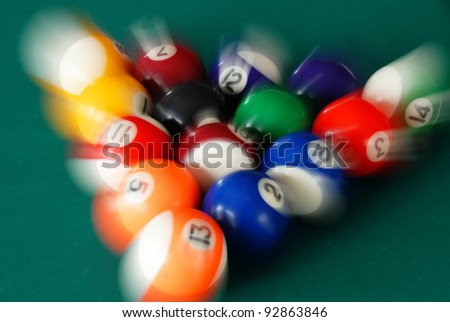 group of scattering billiards balls