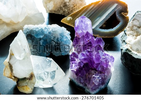 Group of semi precious stones  - stock photo