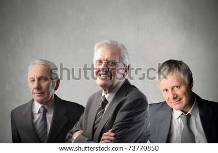 Group of senior businessmen