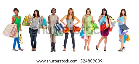 Group of shopping customers.