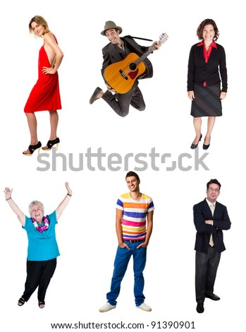 Group of six people - stock photo