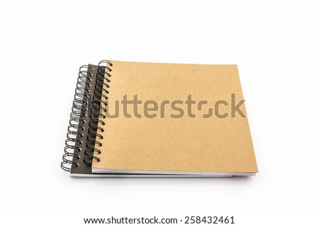 Group of Sketch book on white background. - stock photo