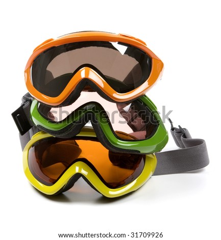 Group of Ski Goggles - stock photo