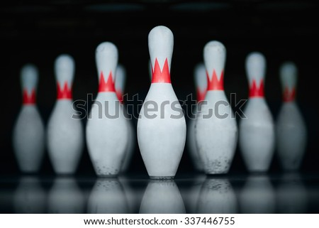 Group of skittles standing in a row - stock photo