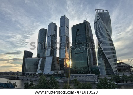 Group of skyscrapers Moscow City