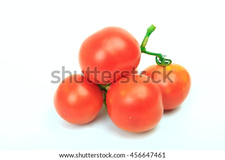 Group of small tomato isolated on white background - stock photo