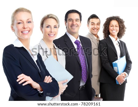 Group of smiling business people. Business team. - stock photo