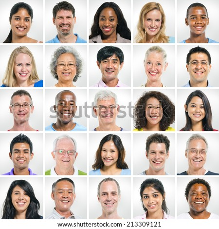 group of smiling people - stock photo