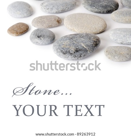 Group of stones isolated on white background - stock photo