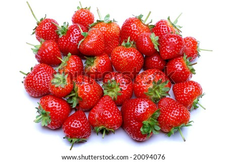 Group of strawberries.