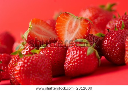 Group of strawberries - stock photo