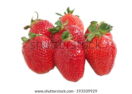 Group of strawberry isolated on white background