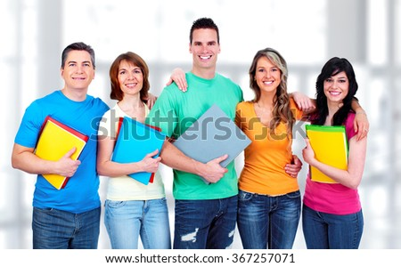 Group of student. - stock photo