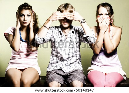 Group of student. Art photo - stock photo