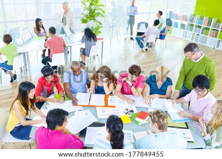 Group of Students in a Classroom - stock photo