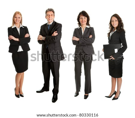 Group of successful business people - stock photo
