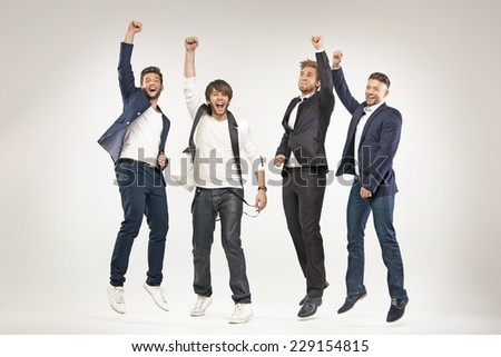 Group of successful businessmen - stock photo
