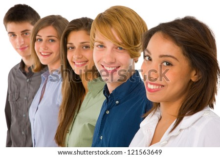 group of teenagers - stock photo
