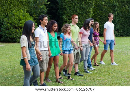 Group of Teenagers at Park