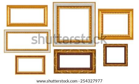 Group Thai Art Wood Frame Isolated Stock Photo (Edit Now)- Shutterstock