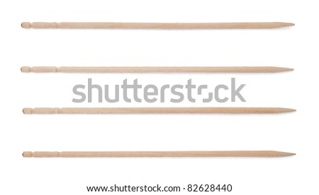 Group of the canape sticks isolated on white background - stock photo