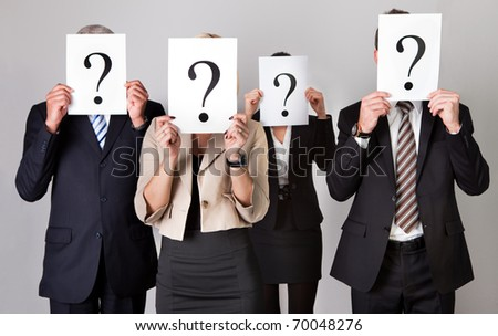 Group of unidentifiable business people - stock photo
