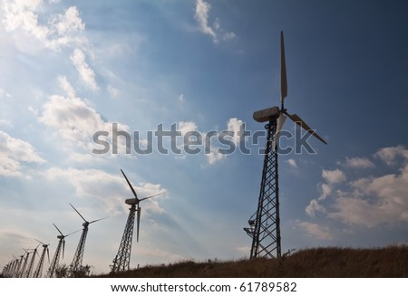 group of wind energy plants in the country