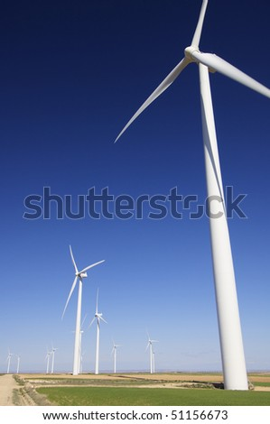 group of windmills in a beautiful rural landscape