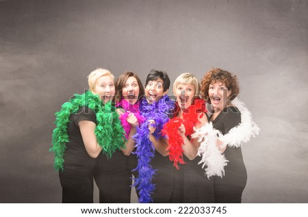group of woman ready for party - stock photo