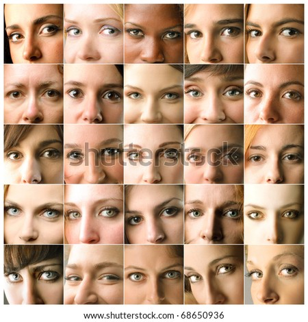 group of women closeup - stock photo