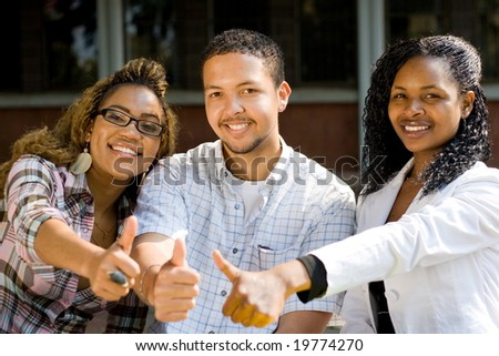 group of young african college students - stock photo