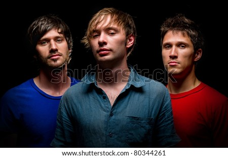 Group of young handsome man - stock photo