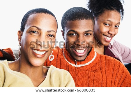 Group portrait of family - stock photo